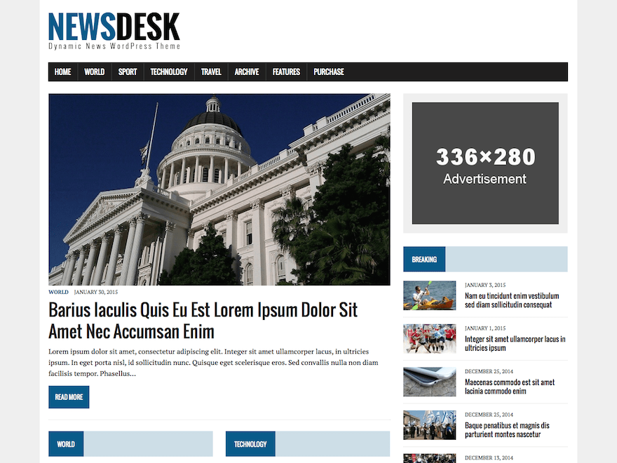 MH Newsdesk lite Download Free Wordpress Theme 5