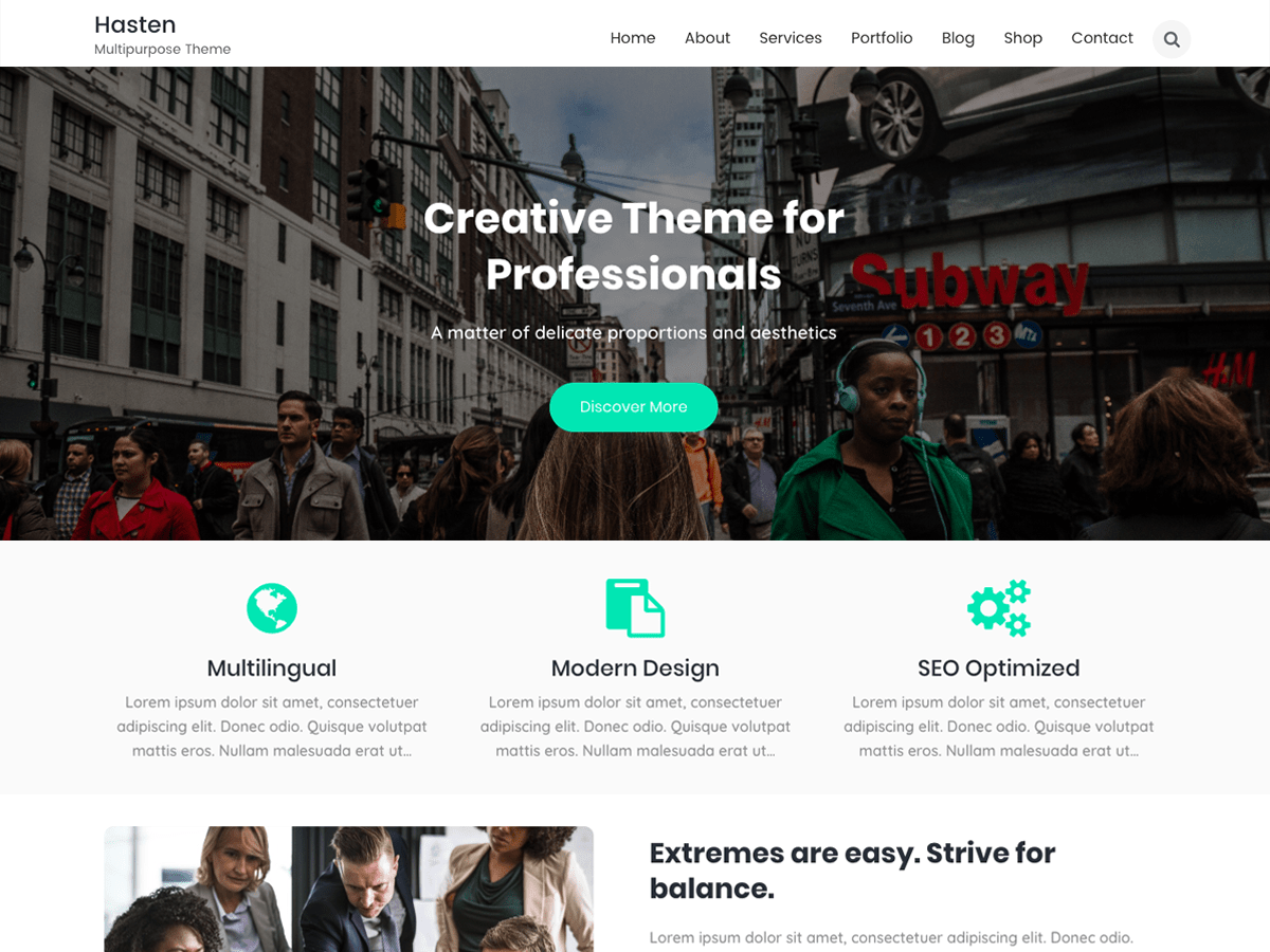 Hasten Lite Download Free Wordpress Theme 3