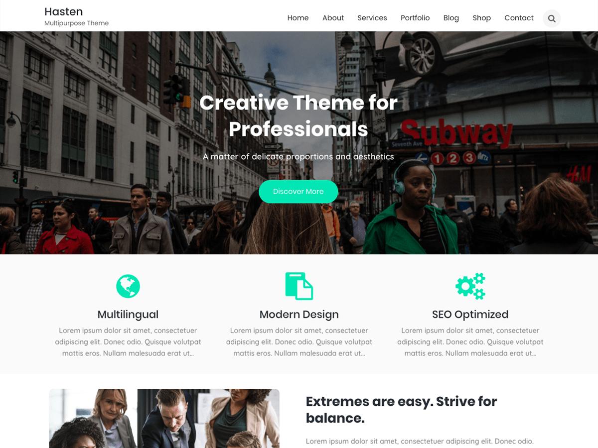 Hasten Lite Download Free Wordpress Theme 2