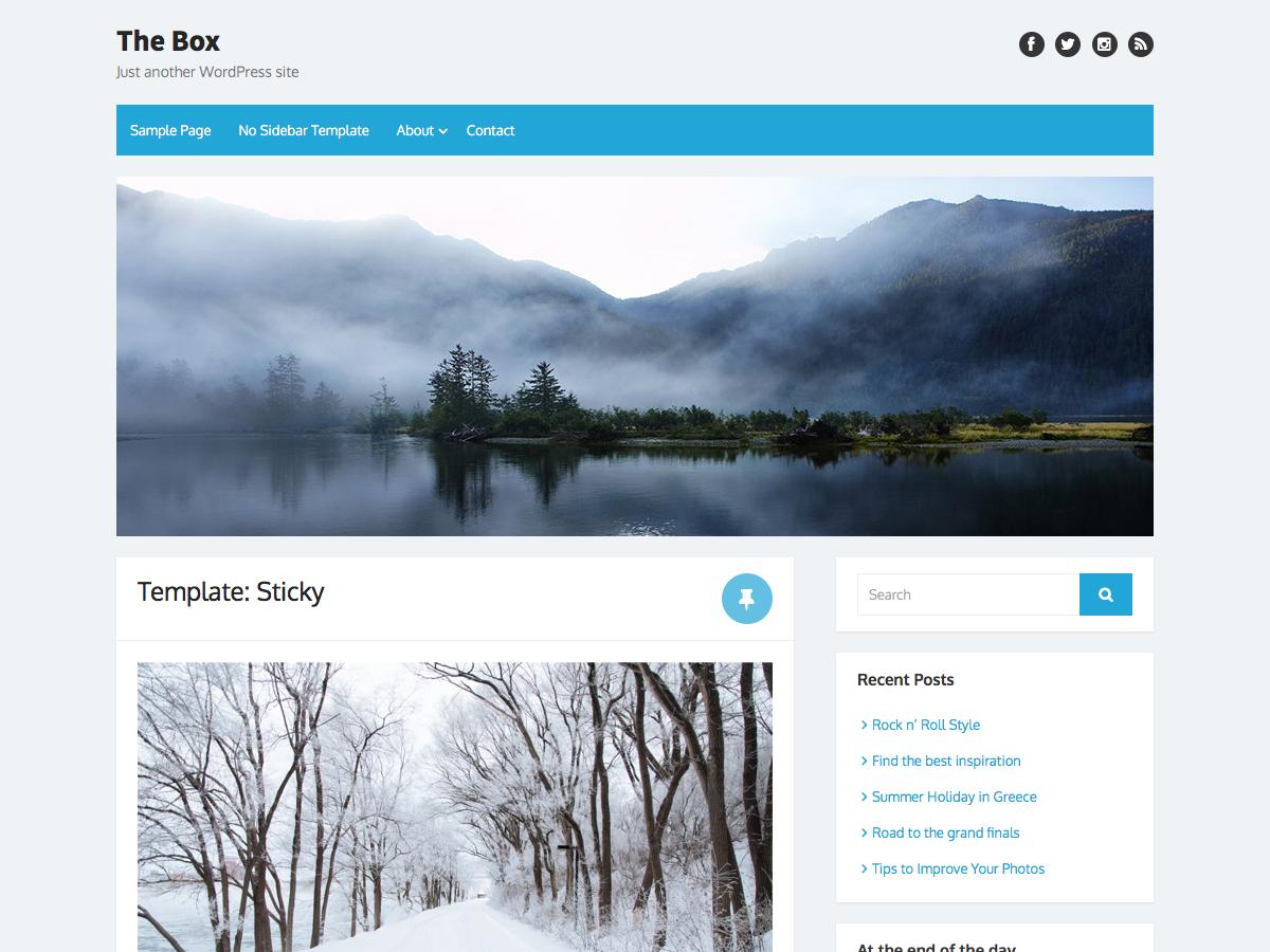 The Box Download Free Wordpress Theme 1
