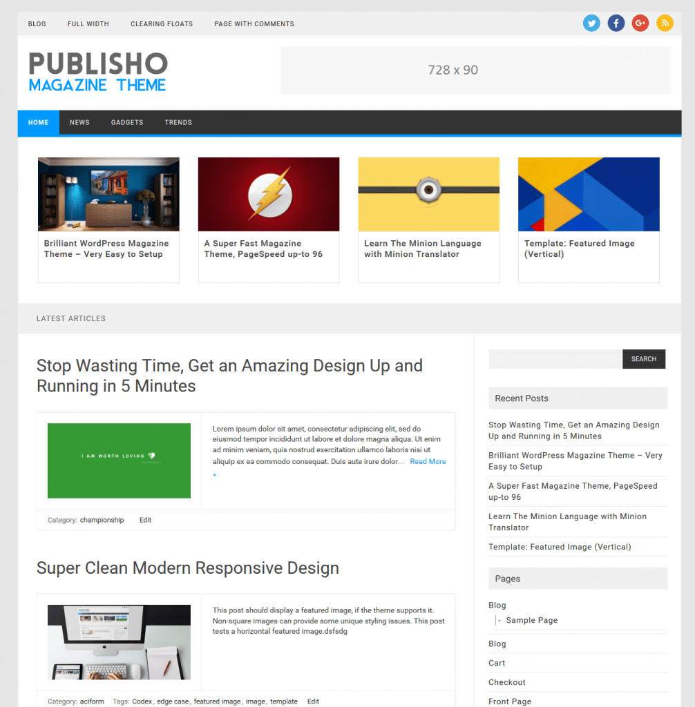 Publisho Download Free Wordpress Theme 3