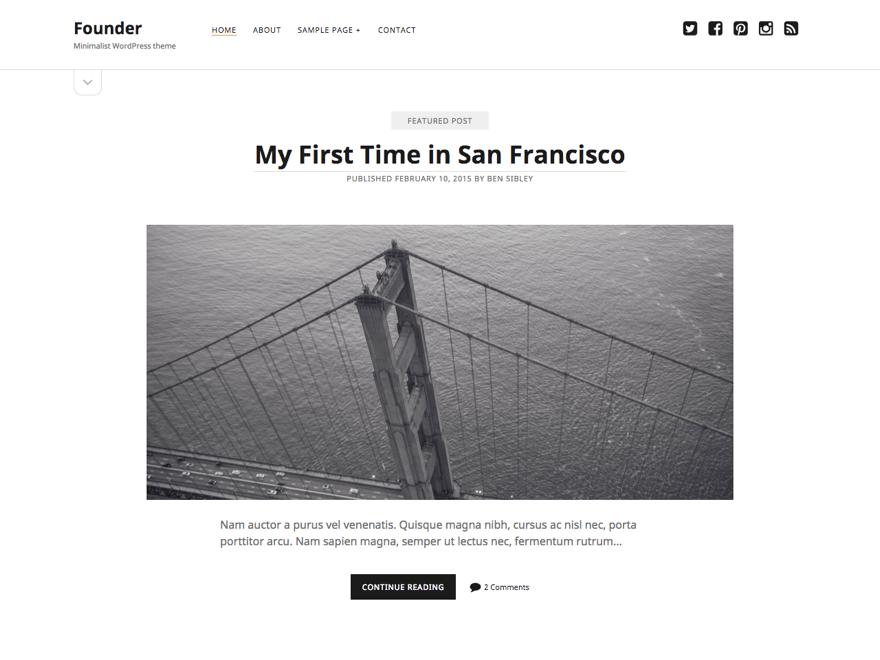 Founder Download Free Wordpress Theme 1
