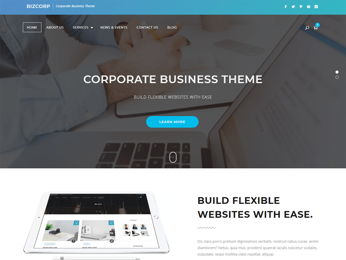 Bizcorp Download Free Wordpress Theme 4