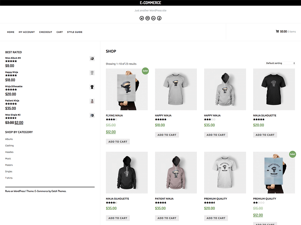 E-Commerce Download Free Wordpress Theme 2