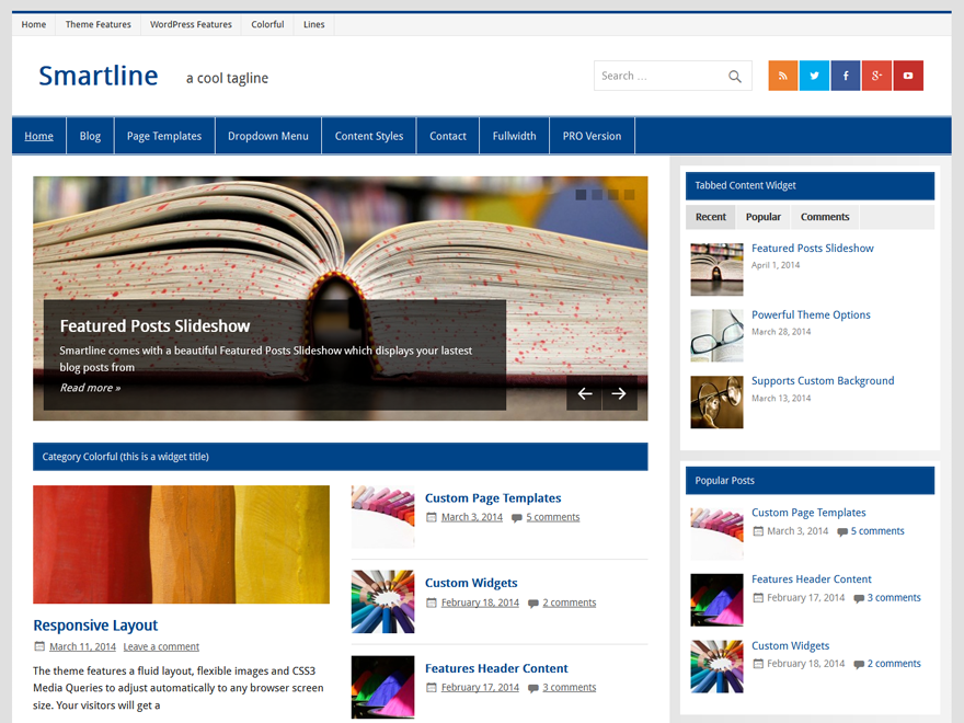 Smartline Lite Download Free Wordpress Theme 5