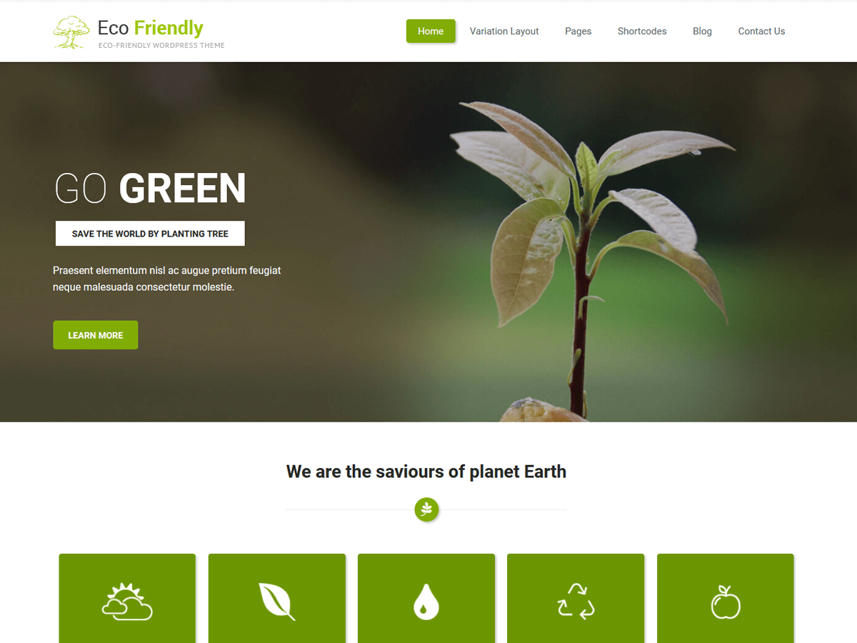 Eco Friendly Lite Download Free Wordpress Theme 4