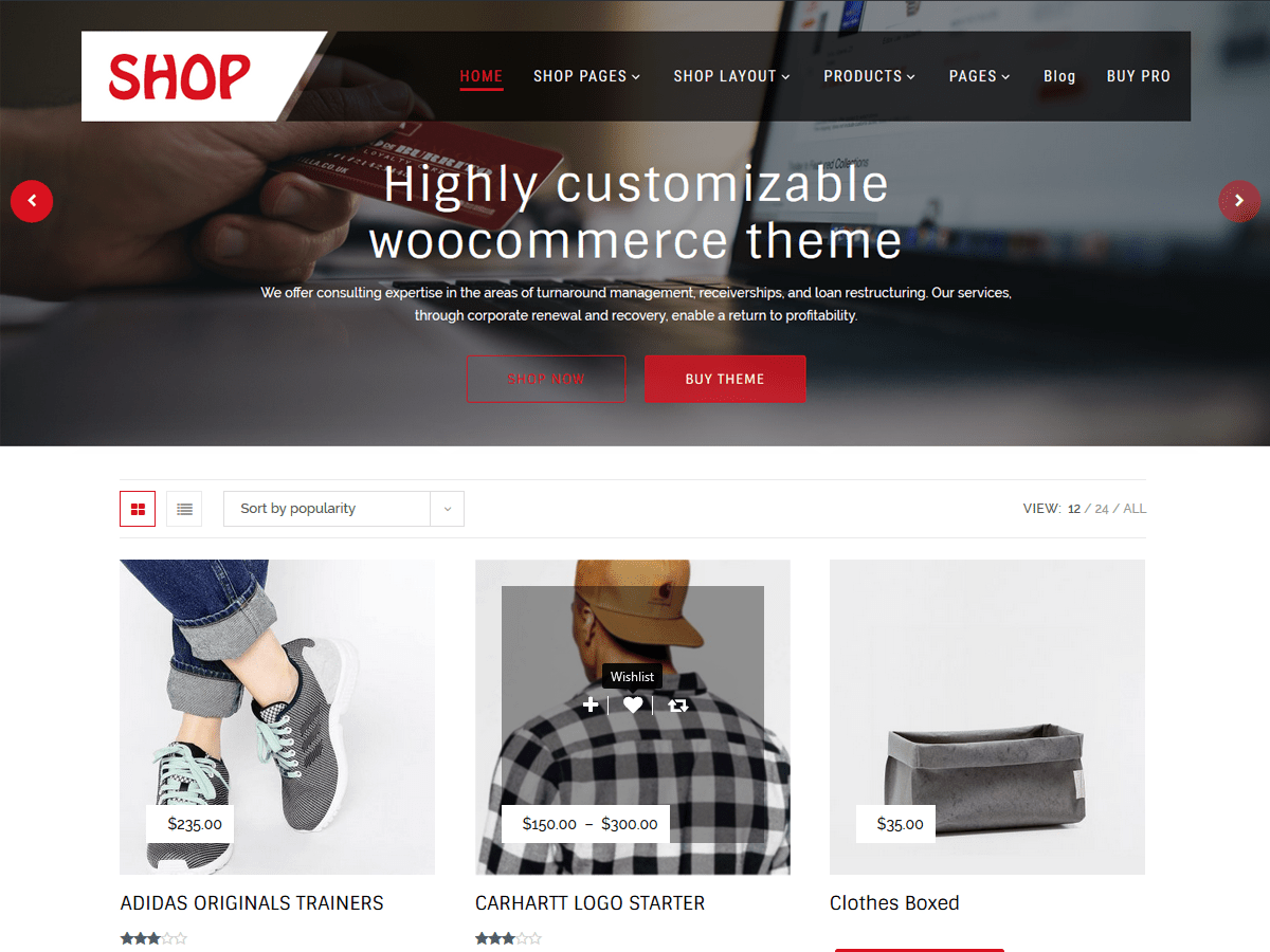 Multipurpose Shop Download Free Wordpress Theme 2