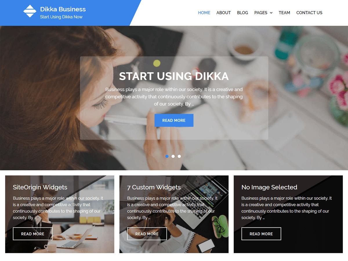 Dikka Business Download Free Wordpress Theme 2