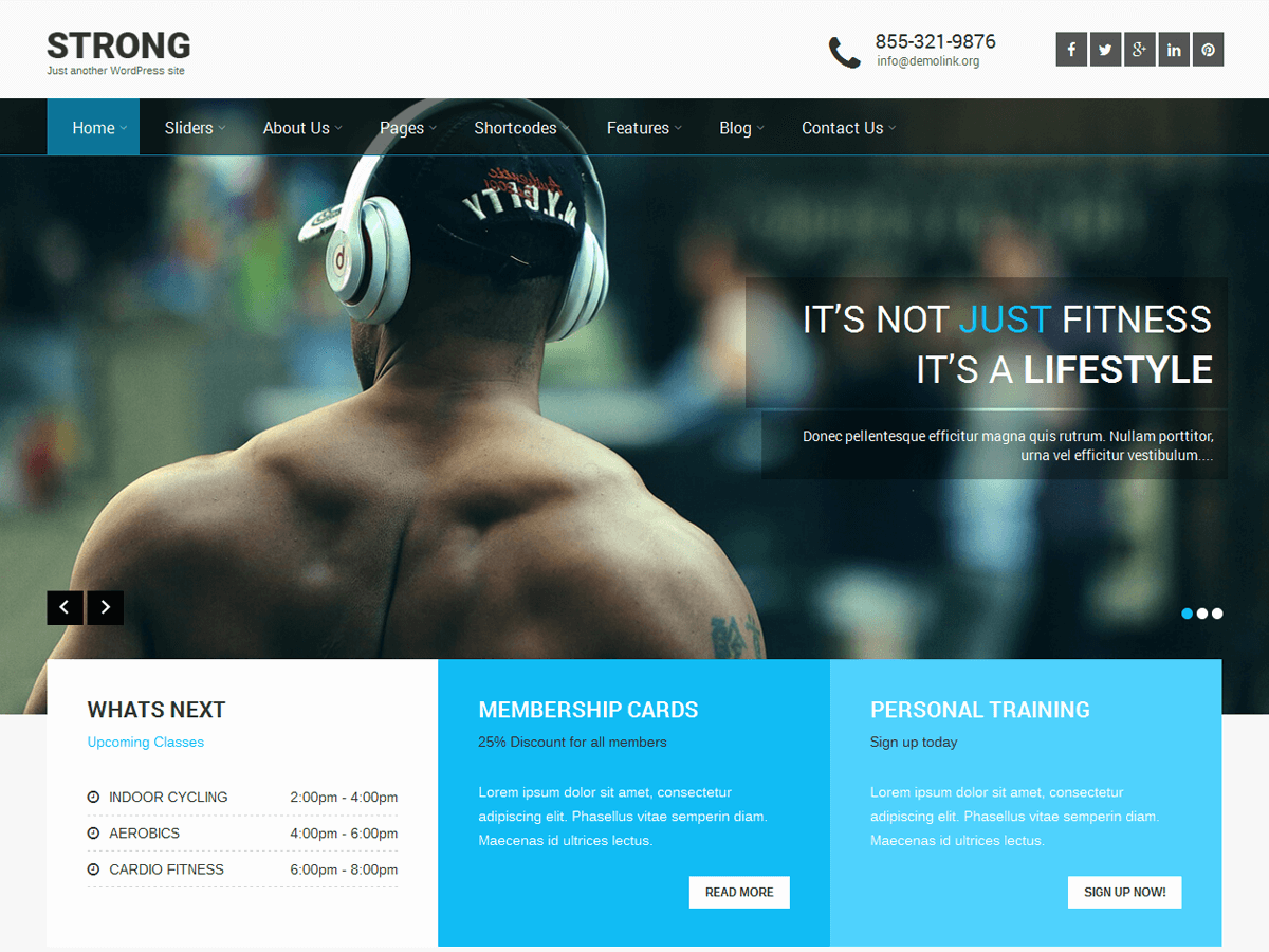 SKT Strong Download Free Wordpress Theme 3
