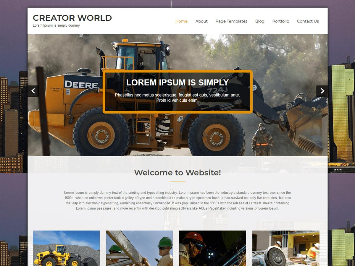 Creator World Download Free Wordpress Theme 1