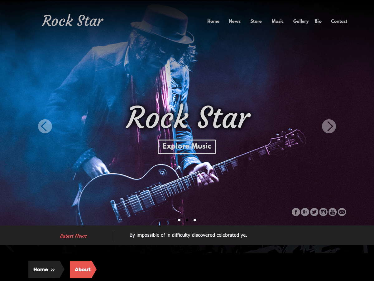 Rock Star Download Free Wordpress Theme 1