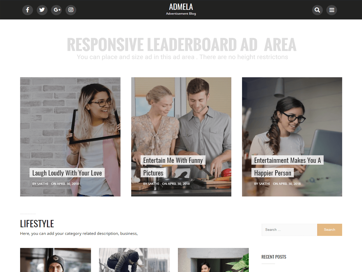 Admela Download Free Wordpress Theme 4
