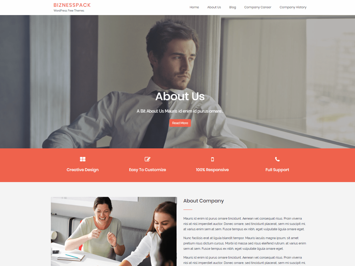 Biznesspack Download Free Wordpress Theme 5