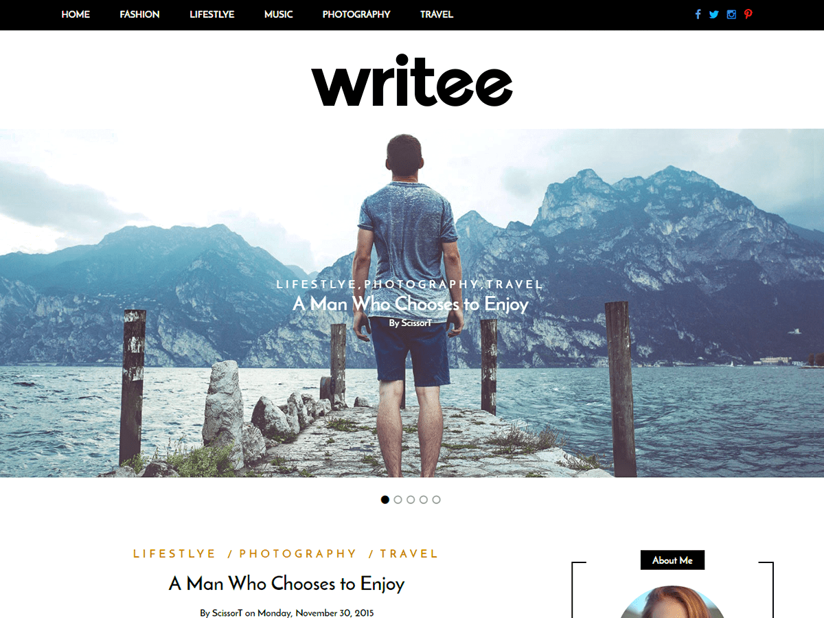 Writee Download Free Wordpress Theme 2