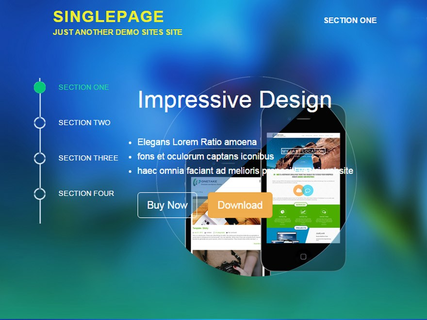 SinglePage Download Free Wordpress Theme 3