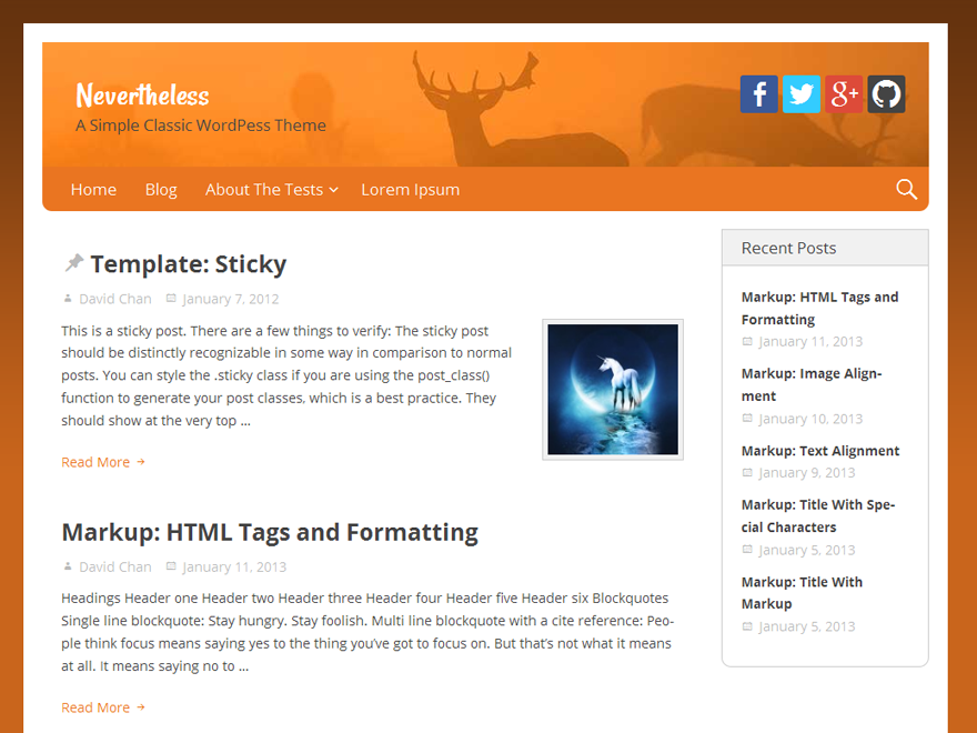 Nevertheless Download Free Wordpress Theme 3