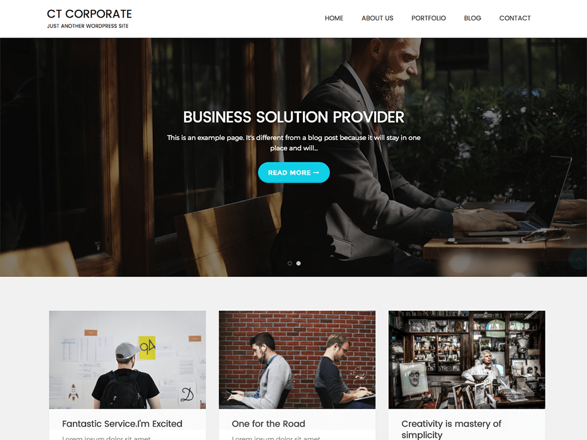 CT Corporate Download Free Wordpress Theme 4