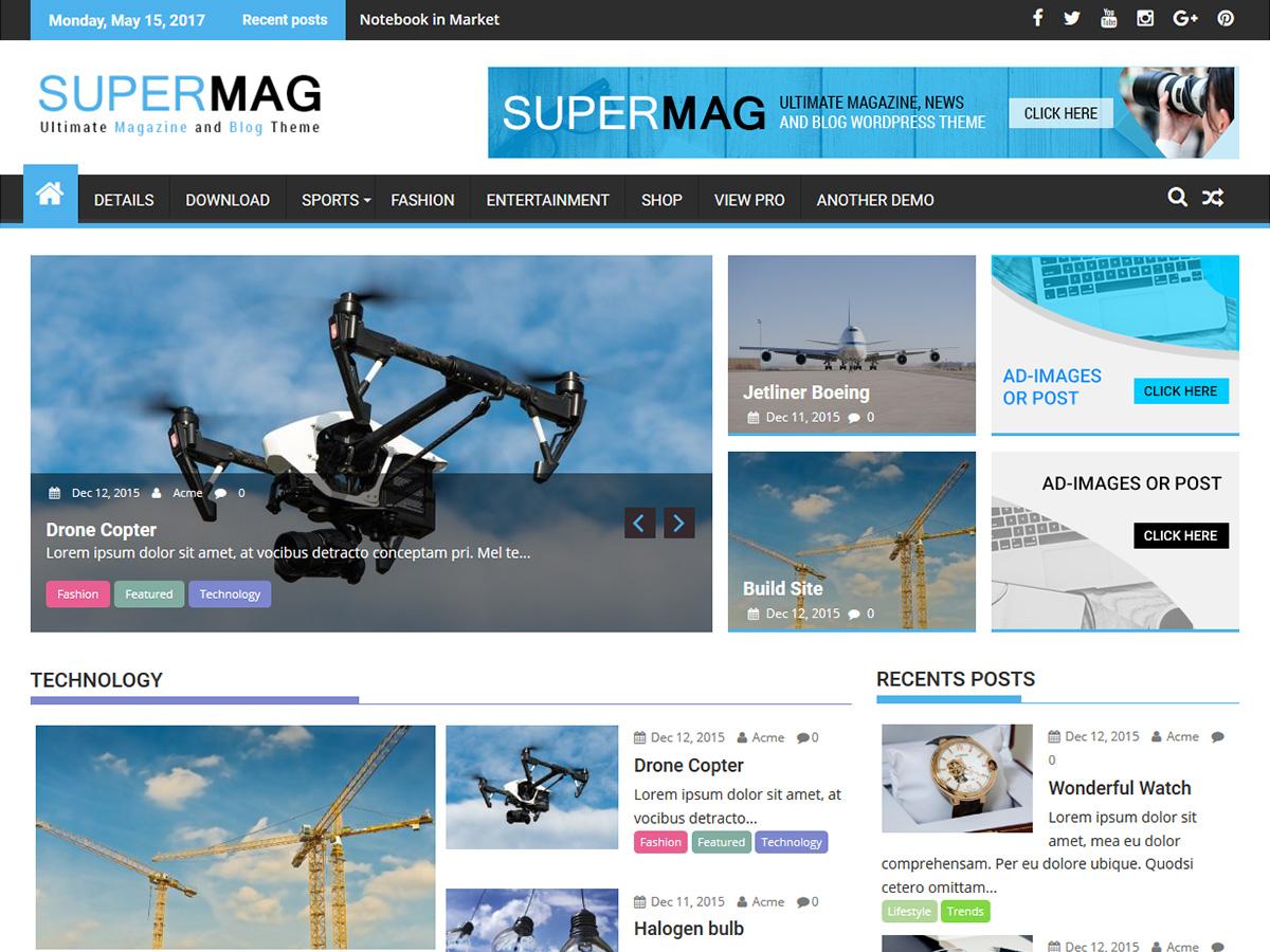 SuperMag Download Free Wordpress Theme 1
