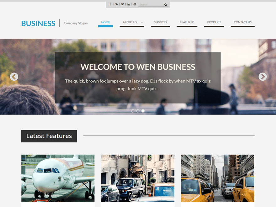WEN Business Download Free Wordpress Theme 4