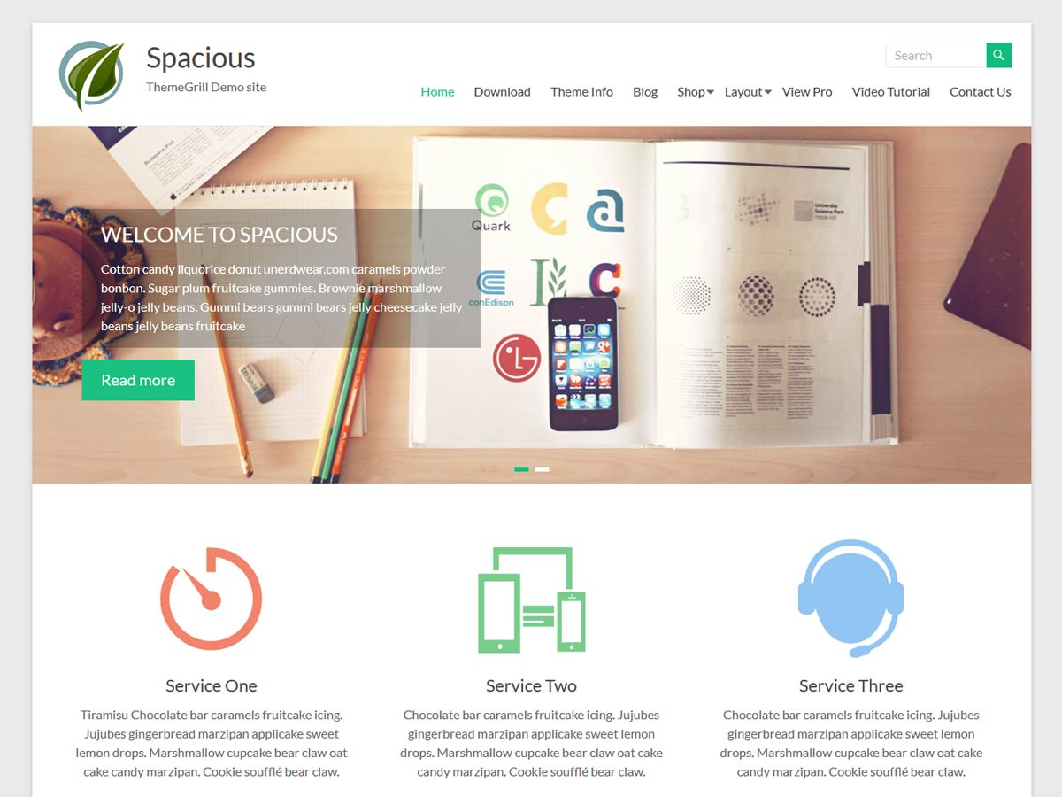 Spacious Download Free Wordpress Theme 3