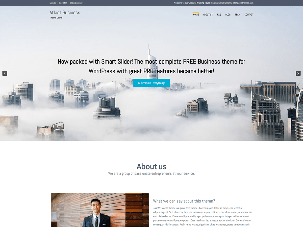 Atlast Business Download Free Wordpress Theme 5