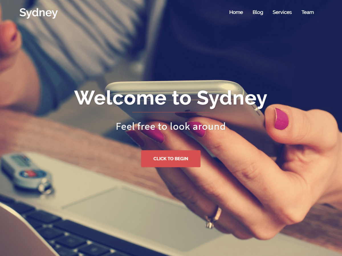 Sydney Download Free Wordpress Theme 4