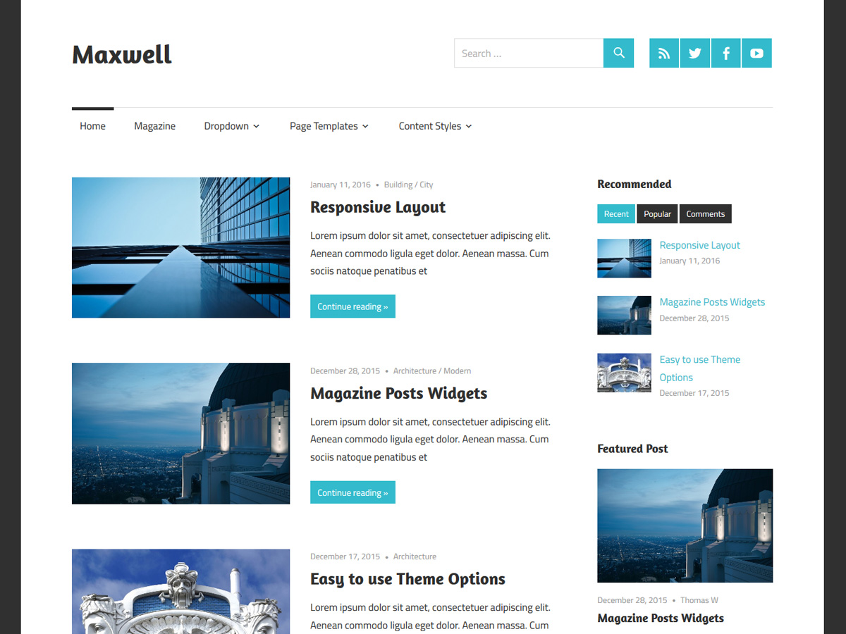Maxwell Download Free Wordpress Theme 1