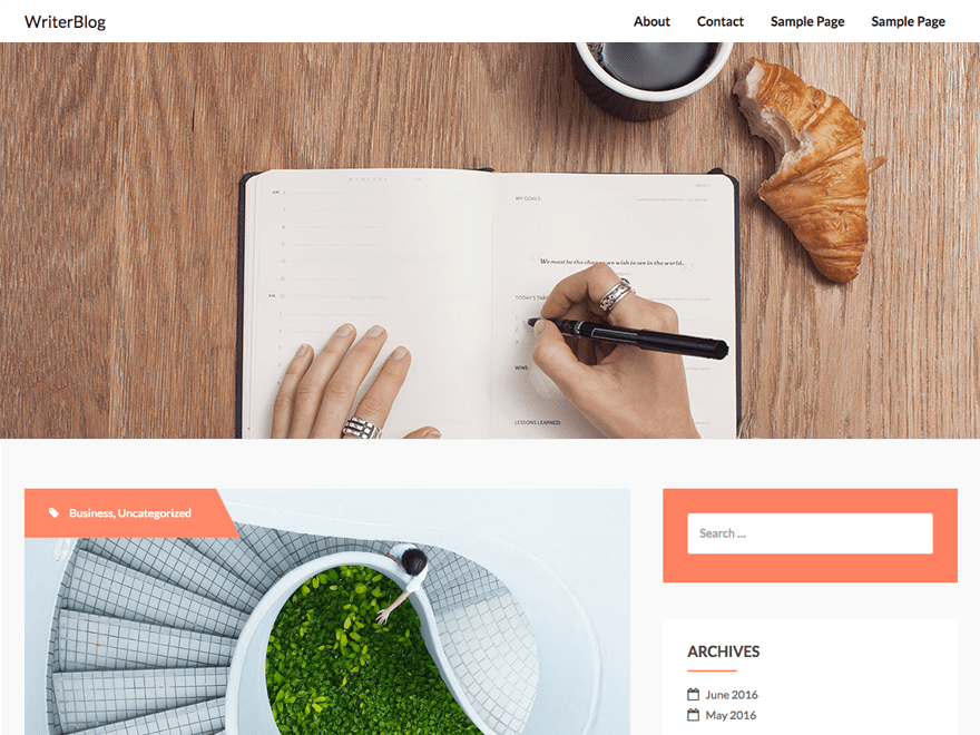 writerBlog Download Free Wordpress Theme 2