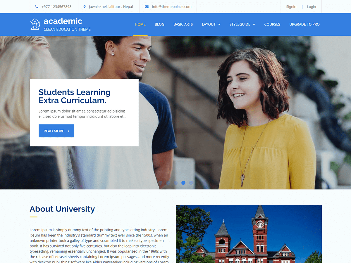Academic Download Free Wordpress Theme 1