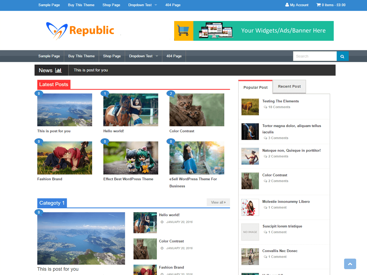 Republic Download Free Wordpress Theme 2