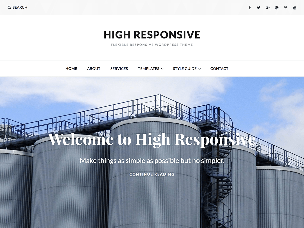 High Responsive Download Free Wordpress Theme 4