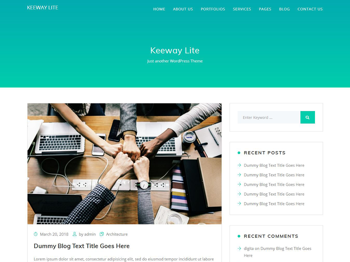 Keeway Lite Download Free Wordpress Theme 4