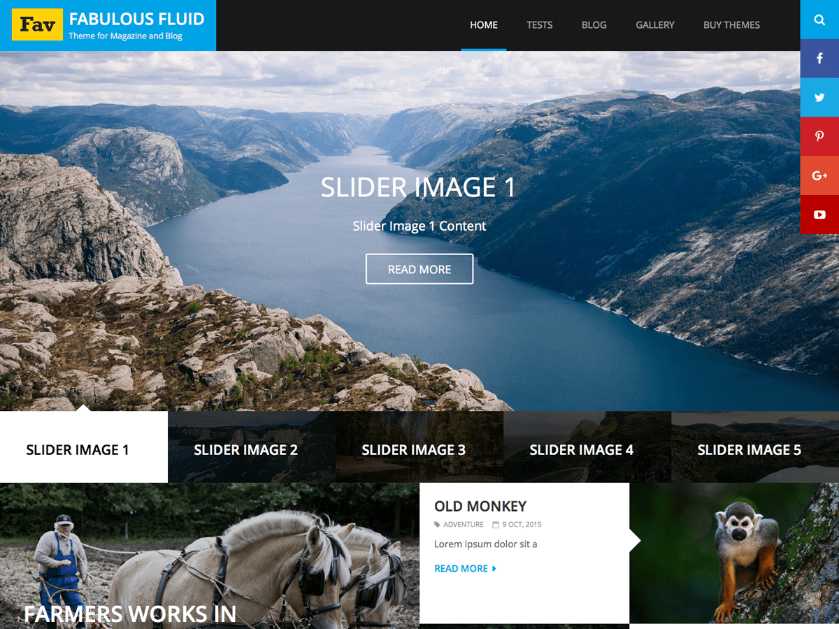 Fabulous Fluid Download Free Wordpress Theme 5