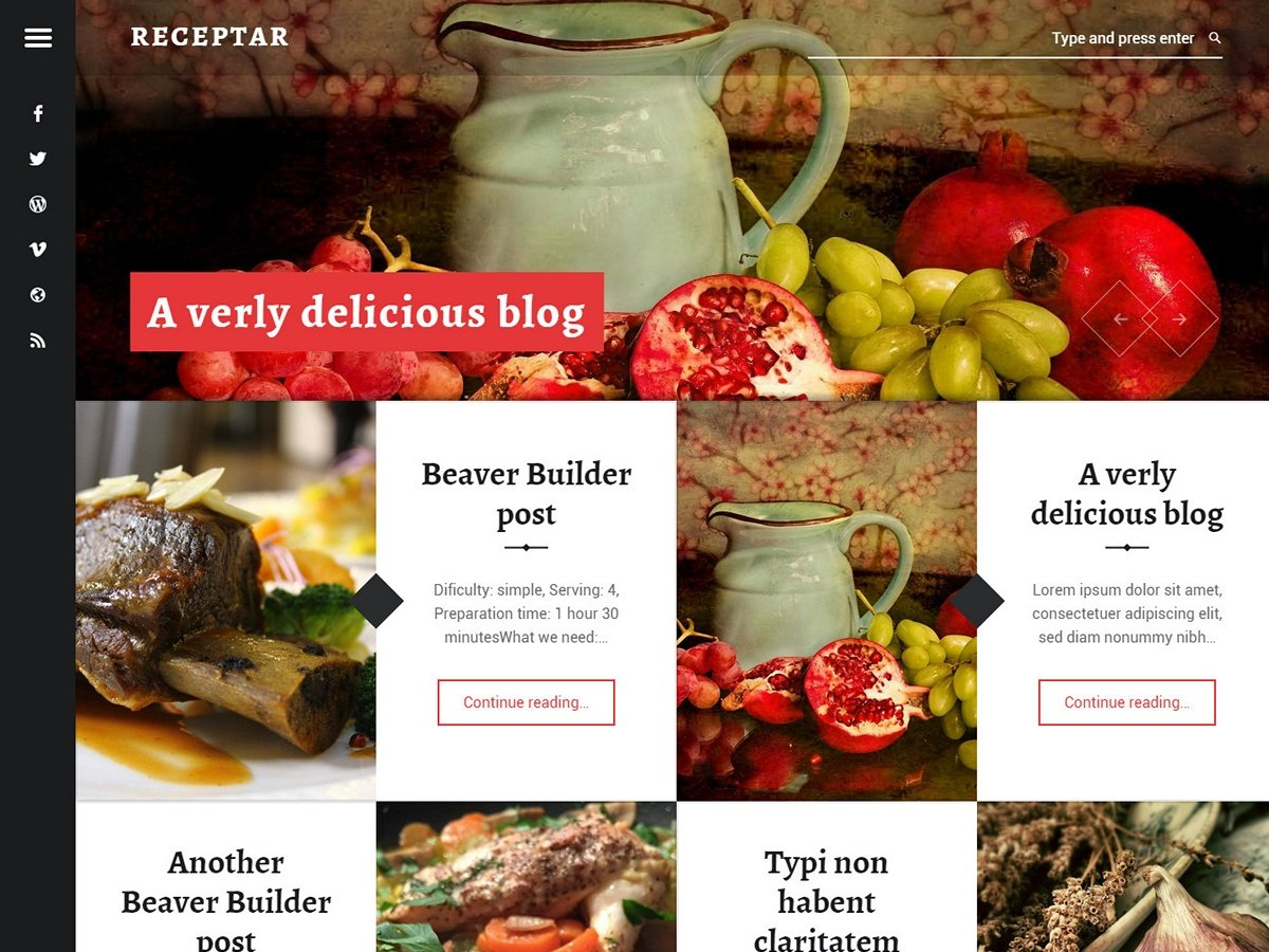 Receptar Download Free Wordpress Theme 4