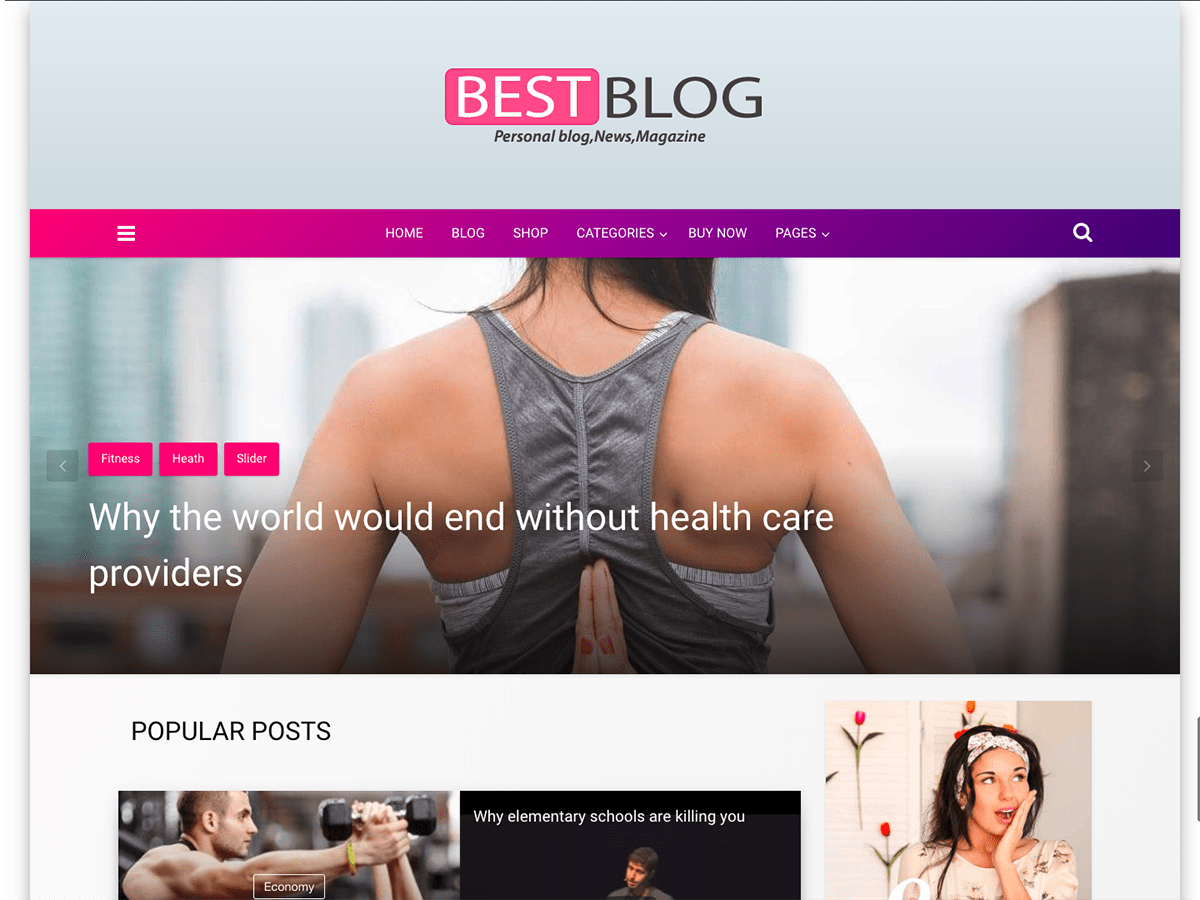Best blog Download Free Wordpress Theme 1