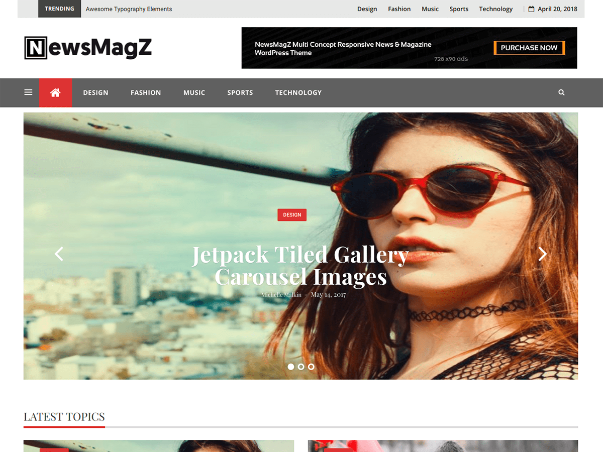 NewsMagZ Download Free Wordpress Theme 1