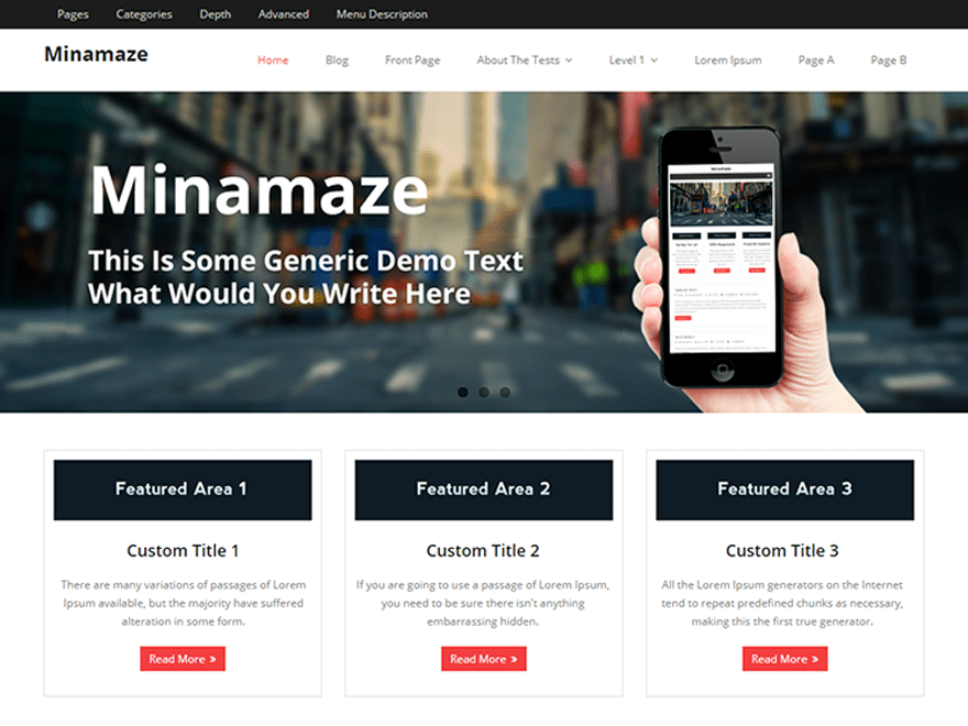 Minamaze Download Free Wordpress Theme 5