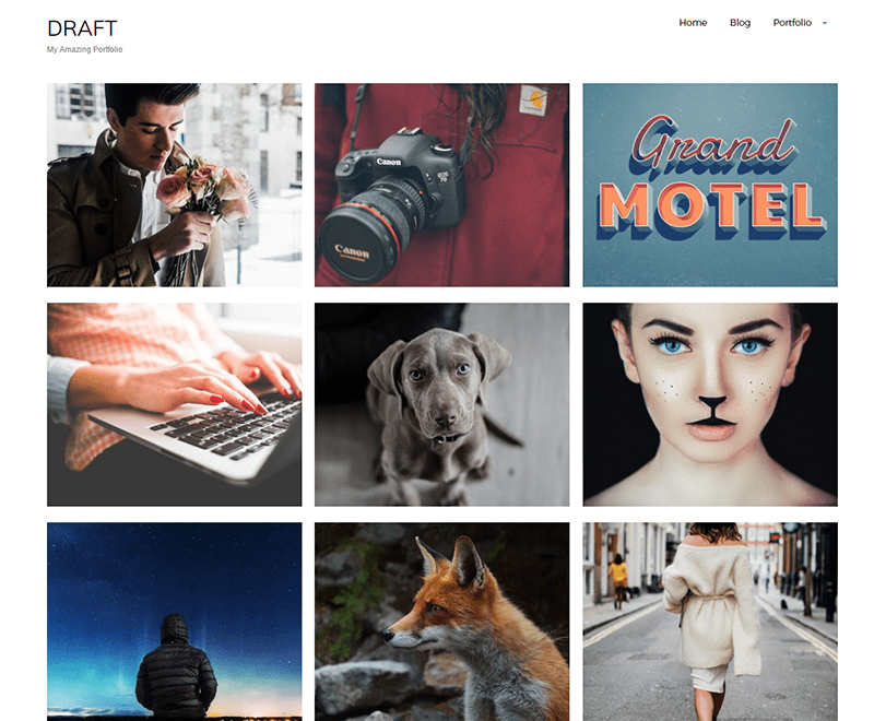 Draft Portfolio Download Free Wordpress Theme 5
