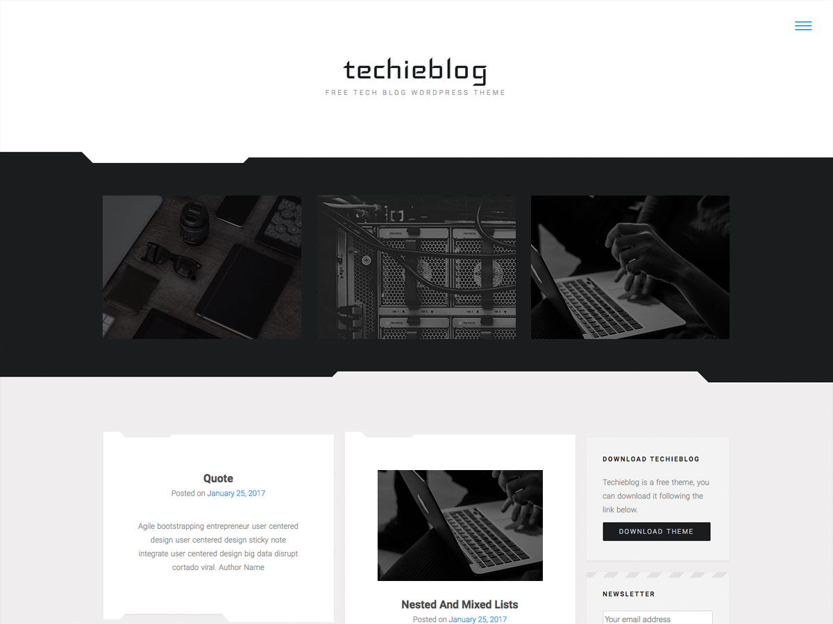 Techieblog Download Free Wordpress Theme 2
