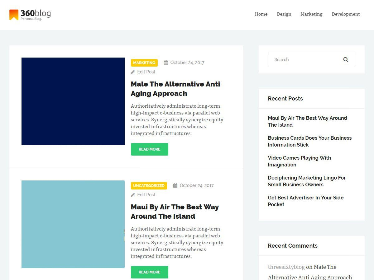 ThreeSixtyBlog Lite Download Free Wordpress Theme 2