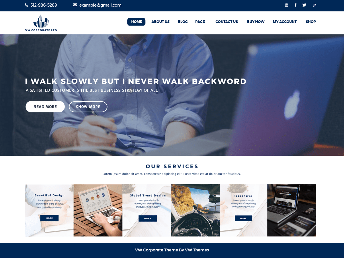 VW Corporate Lite Download Free Wordpress Theme 3