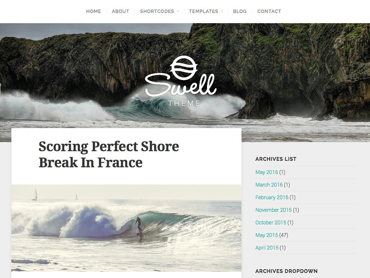 Swell Lite Download Free Wordpress Theme 5