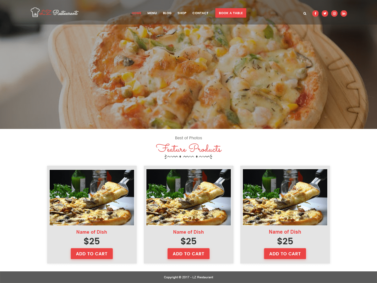 lzrestaurant Download Free Wordpress Theme 3