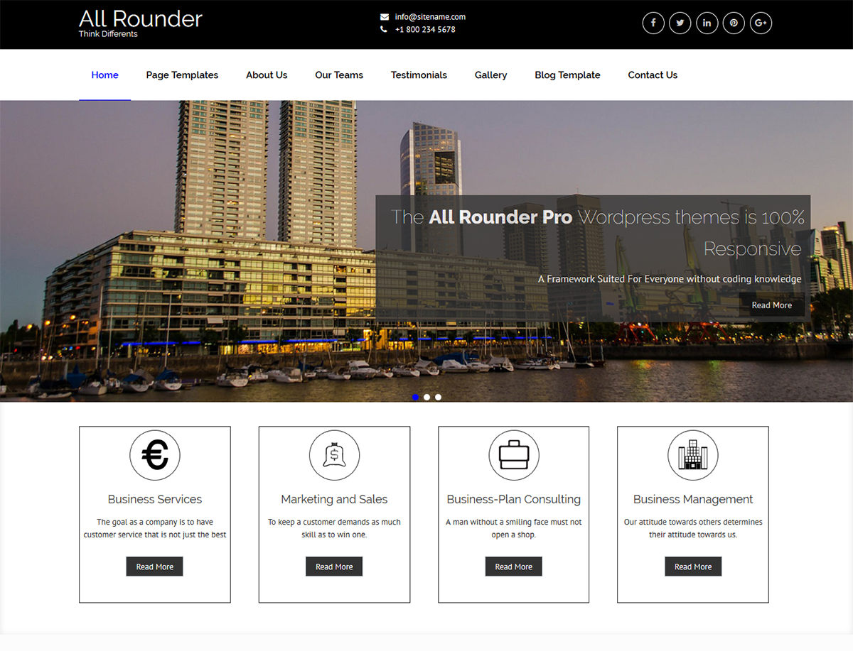 All rounder Download Free Wordpress Theme 2