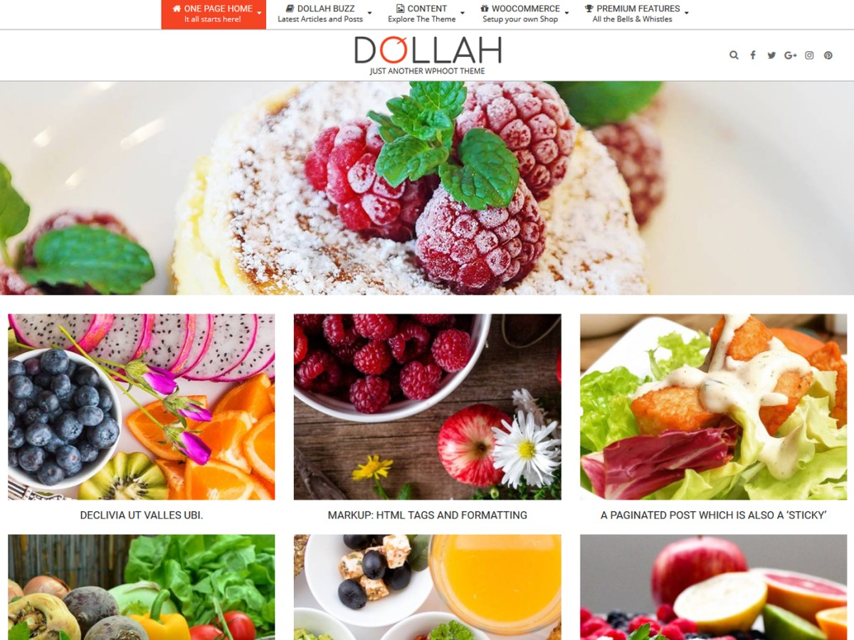 Dollah Download Free Wordpress Theme 3