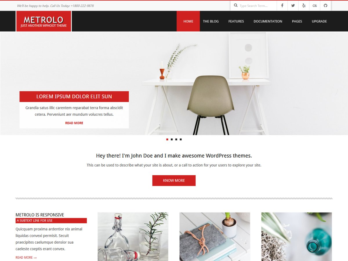 Metrolo Download Free Wordpress Theme 1
