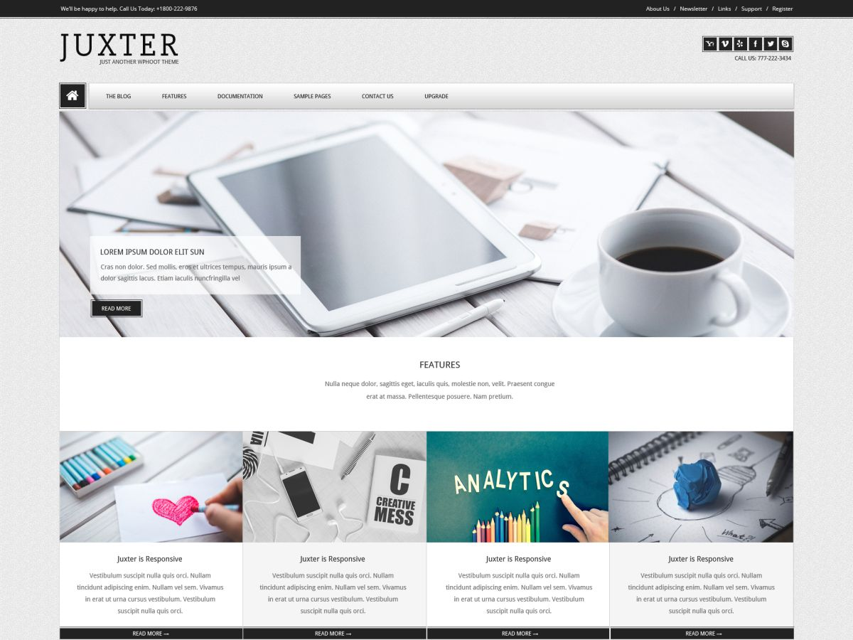 Juxter Download Free Wordpress Theme 5