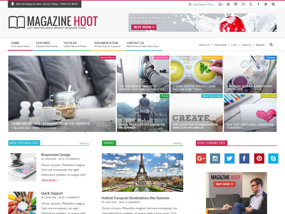 Magazine Hoot Download Free Wordpress Theme 4