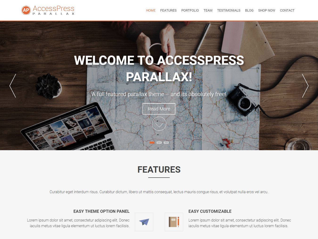 AccessPress Parallax Download Free Wordpress Theme 2