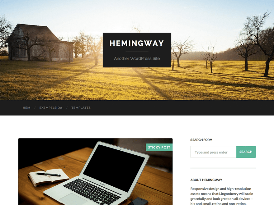Hemingway Download Free Wordpress Theme 5